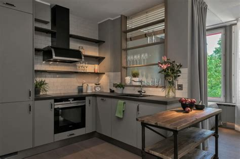 cuisine design industrie cuisines modernes avec accents en bois en 34 exemples