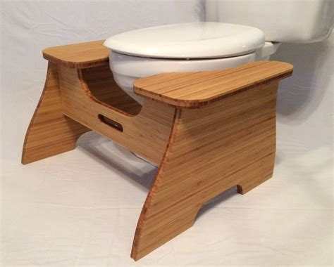 high bamboo poop stoop full squat toilet foot stool