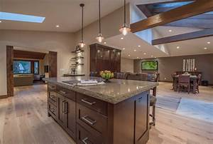 Open Concept Floor Plan With Vaulted Ceilings - Rustic