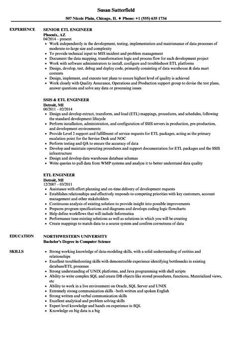 etl engineer resume samples velvet jobs