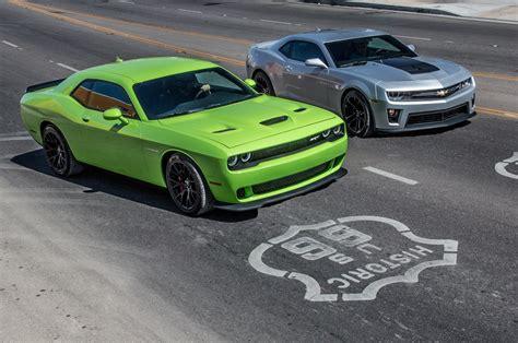2014 Chevrolet Camaro Zl1 Vs. 2015 Dodge Challenger Srt