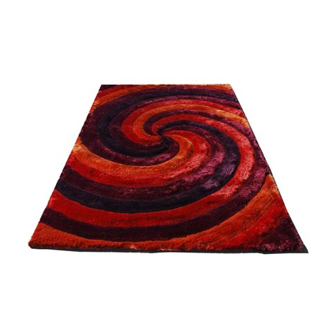 tapis 3d cyclone rouge carving 140x200