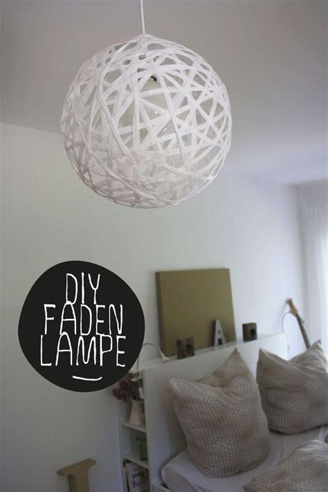 diy anleitung faden lampe schnur oder bast perfekt rund