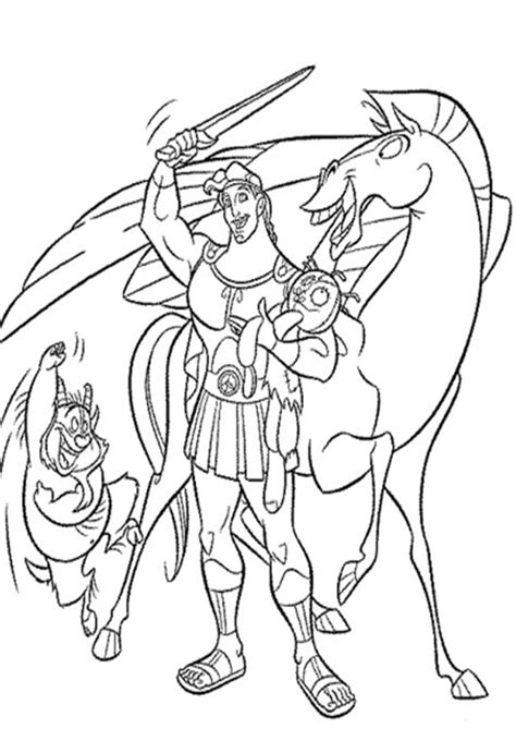 Coloring Pages by Hercules Coloring Pages Bestofcoloring