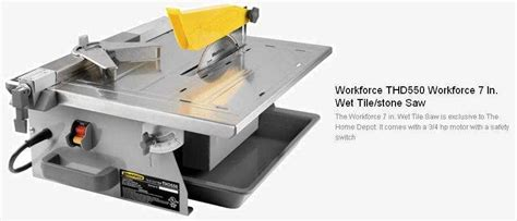 Workforce Tile Saw Blade i a workforce thd550 tile saw after changing the