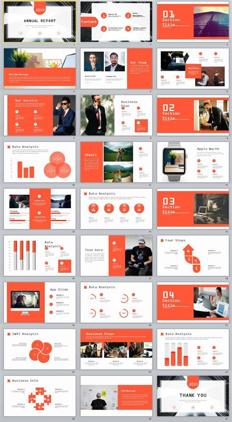 creative infographics annual report powerpoint
