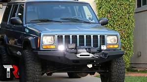 Jeep Xj Off-road Led Light Install - Kc G34 U0026 39 S