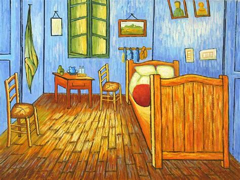 van goghs bedroom  arlesoil paintings  canvas