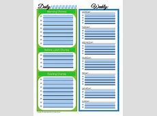 31 Days of Home Management Binder Printables Day #4 Daily