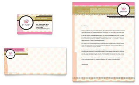 hairstylist business card letterhead template design