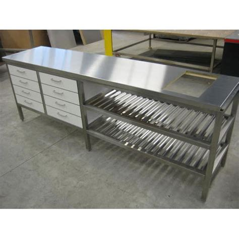 stainless steel kitchen work tables india stainless steel work table at rs 25000 unit stainless