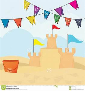 Vector Illustration Of An Sandcastle Royalty Free Stock ...