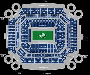 Stadium Seating Chart Hard Rock Stadium Regarding