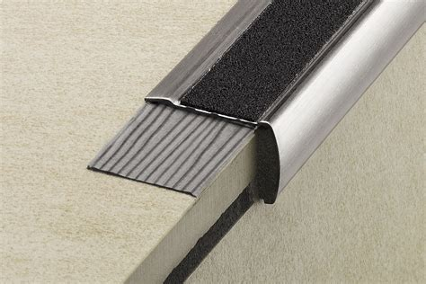 Tile Stair Nosing Profile by Schluter 174 Trep G Gk Slip Resistant Treads For Stairs