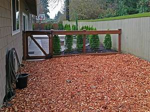 outdoor dog pen bedding bing images With wood chips for dog kennel