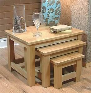 50 Off Light Oak Nest Of 3 Tables Mobel Solid Oak