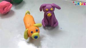 Clay art for kids | How to make a dog for kids | Clay ...
