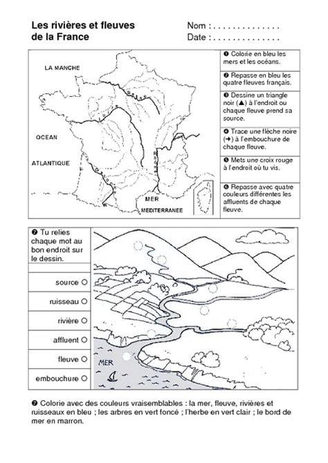 Carte Des Fleuves De Ce2 by Rivi 232 Res Et Fleuves Ce1 Exercices Espace Temps