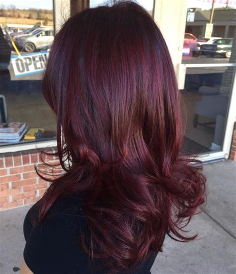 shades  burgundy hair color dark maroon red wine