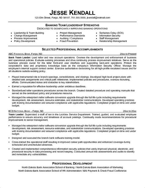 Entry Level Banking Resume Objective Exles by 10 Teller Resume Sle Writing Tips Writing Resume