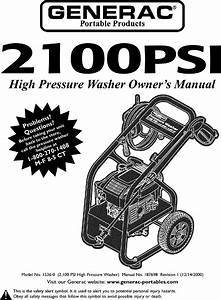 Generac 1536 0 User Manual Pressure Washer Manuals And
