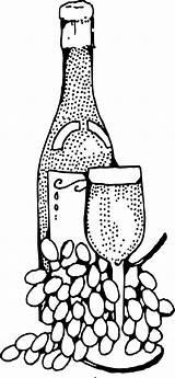 Clipart Glass Coloring Bottle Wine Transparent Webstockreview sketch template