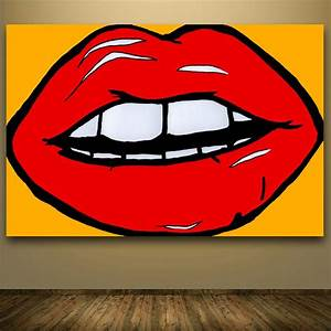 Andy Warhol Pop Art : 2016 top hotsale andy warhol pop art lips abstract ~ A.2002-acura-tl-radio.info Haus und Dekorationen