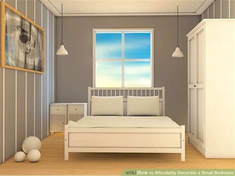 ways  affordably decorate  small bedroom wikihow