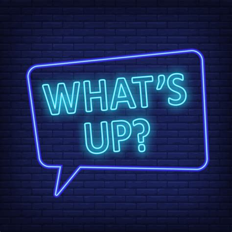 Whats up neon sign. speech bubble with text | Free Vector