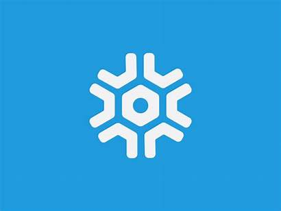 Snowflake Logos Snow Winter Dribbble Icon Logoinspirations