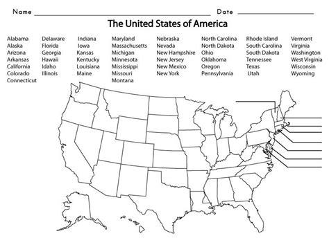 usa states  kids summer school  state map