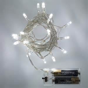 20 led white battery operated fairy lights static lights4fun co uk