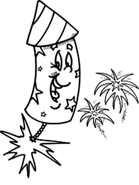 laughing fireworks coloring page  print