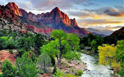 Mountain Wallpapers Background Scenic Desktop River Nature