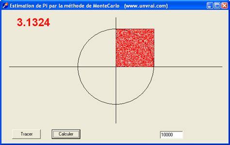 methode de monte carlo developpez delphi calcul de pi par la m 233 thode de monte carlo