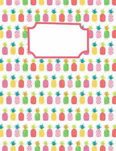 Free printable pineapple binder cover template. Download ...