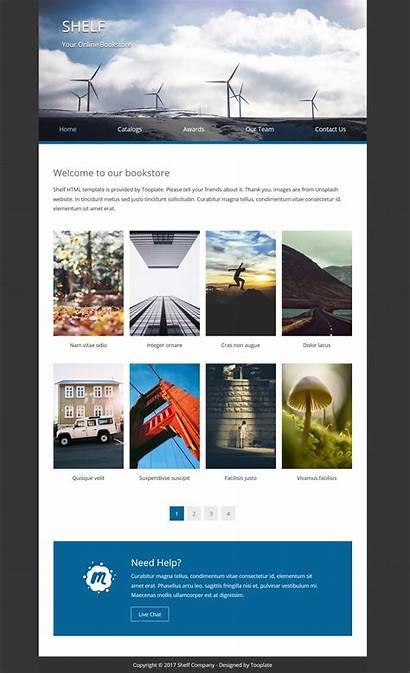 Shelf Template Templates Website 2092 Tooplate Simple
