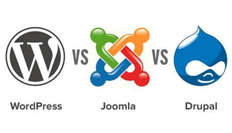 wordpress vs joomla vs drupal which one is better