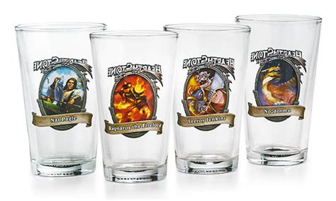 Hearthstone Comes To With Knock Set Blizzard Hearthstone Pint Glass Set