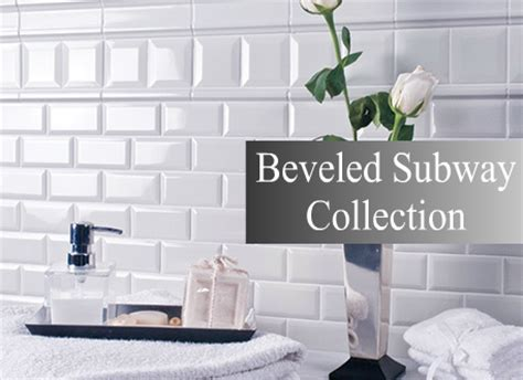 bevelled subway tile kitchen backsplashbathroom tile