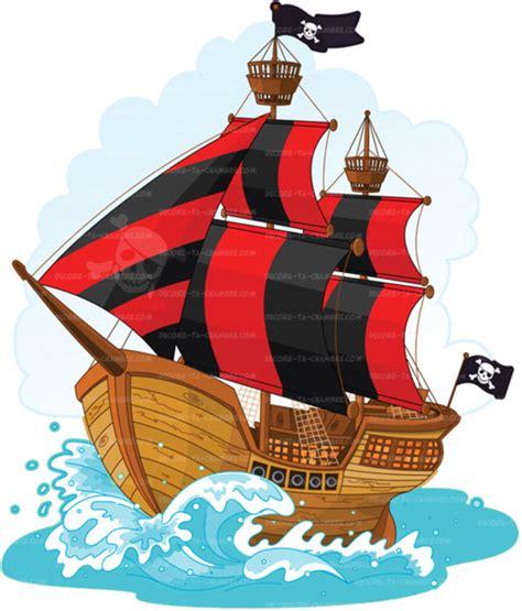 chambre bateau pirate stickers enfant bateau de pirate vente sticker
