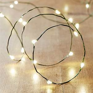 20 Warm White Led Green Wire Micro Fairy Lights