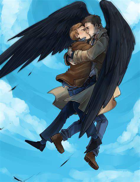 destiel supernatural fanart dean castiel fan winchester angel ships ship superwholock johnlock fandom fans
