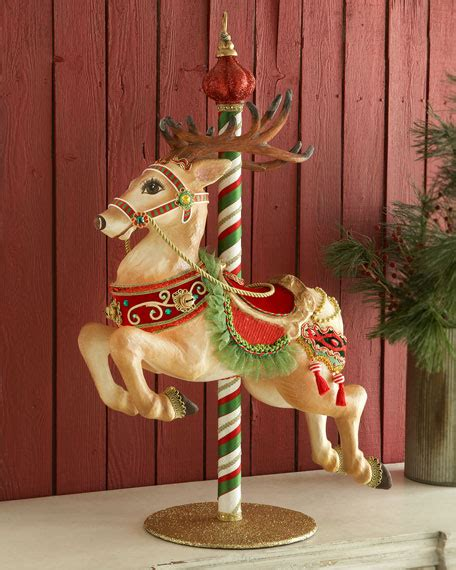 katherines collection carousel reindeer figure