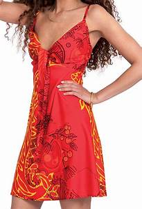 robe d ete courte ethnique et originale chantal rouge With robe d été femme originale