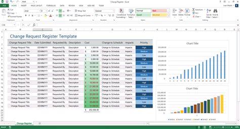 change register template ms excel software testing