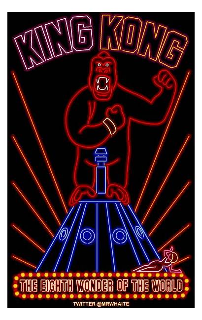 Neon Posters King Kong Poster Versions Animated