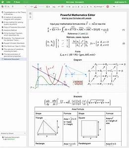 Mathcha - Powerful Online Math Editor