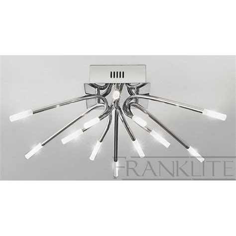 franklite fl2223 12 kendo modern flush ceiling light