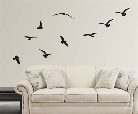 drawing decoration home decoration artistic flying birds silhouette design Wall
